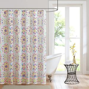 Zoe Printed Shower Curtain Multi-Colored 72x72 Intelligent Design