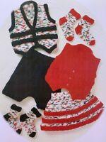 "Baby Knitting Pattern Waistcoat Skirt Shorts Socks DK 18 - 24"" BR313"