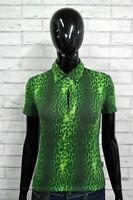 Polo Donna JUST CAVALLI 42/M Maglia Manica Corta Elastica T-shirt Jersey Slim