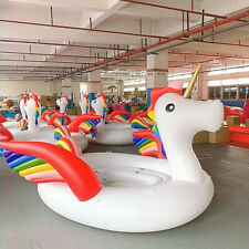 Giant colorful 4 Person Inflatable Unicorn Lake Water Large Party Float Raft