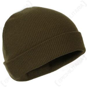 WW2 US A4 Mechanics Olive Drab Watch Cap - Woollen Knit