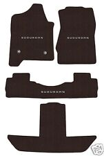 Chevy Suburban Floor Mats Cocoa Brown 3rd row 2015-2018 Set with Surburban Logo