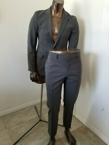 PRADA Made in Italy great SUIT - gray on gray pinstripes - Size 40