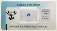 Natural Sapphire 0,70ct Blue Round Mixed Cut IGI Certificat - sealed