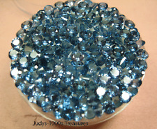 10 LAB CREATED BLUE SPINEL LOOSE 3.5 x 2.39mm ROUND  AVERAGE 0.19pt.  EACH STONE