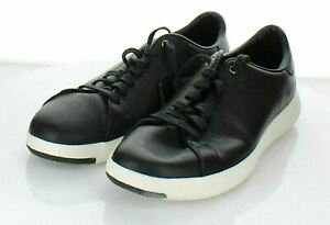 U67 $130 Women's Sz 8 B Cole Haan GrandPrø Tennis Sneaker - Black