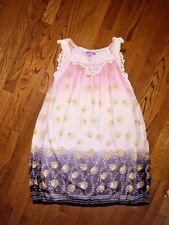 ULTRA PINK Birthday Cake Tiered Silky Juniors LINED SLEEVELESS LACE DRESS Sz L
