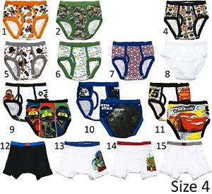 New Underwear Briefs for Kid's Boy's Handcraft size 4 / 6 / 8 / 10