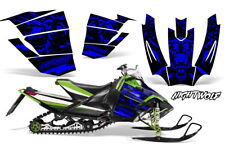 Arctic Cat Sno Pro Race Sled Wrap Snowmobile Decal Graphic Kit NIGHTWOLF BLUE