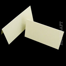 100 x Place Name Cards Ivory Linen Embossed - Wedding Stationery