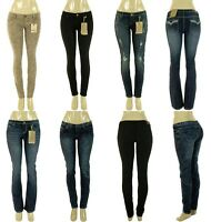 Lot Womens Denim Skinny Boot-Cut Vintage Stretch Jeans Pants 0 1 3 5 7 9 11 13