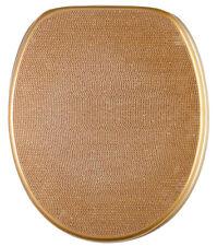 Wc Siège Couvercle De Toilettes Abattant Abattant Siège de toilette avec automatisme de descente Crystal Gold
