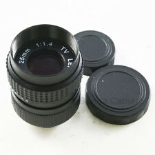 25mm f/1.4 C Mount 1/2 CCTV Lens Black Body for Panasonic Micro 4/3 M43 Sony NEX