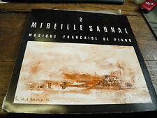 Mireille Saunal musique française de piano  disque Verseau