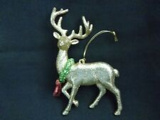 Katherine's Collection Gold Glitter With Wreath Reindeer Christmas Ornament