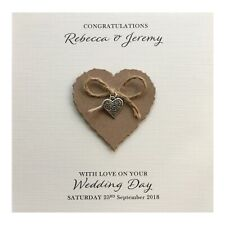 Personalised Wedding Day Card - Heart Charm