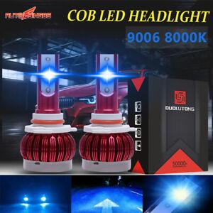 2x 9006 HB4 LED Headlight Bulb Low Beam Front Light 8000K 180W 45000LM Blue Lamp