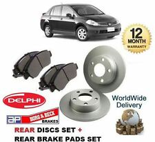 FOR NISSAN TiiDA 1.5DT + 1.6 2010-> NEW REAR DISCS SET + BRAKE DISC PADS KIT