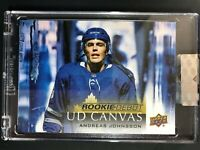 2018-19 Upper Deck Clear Cut UD Canvas Andreas Johnsson Rookie Debut