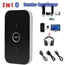 2 in 1 HIFI Bluetooth A2DP Audio Sender Empfänger 3.5MM RCA MP3 TV PC Adapter