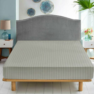 25 CM Deep Fitted Sheet Grey Elastic Full Bed Sheet Single Double King Bed Sizes