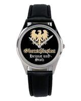 Oberschlesien Geschenk Fan Artikel Zubehör Fanartikel Uhr B-2864