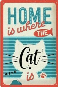 Nostalgic Art Home Is Ou Chat Is - Zuhause Est Où Ta Chat Est