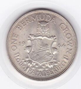 Sharp  Bermuda  1964  Large   Crown  -  Silver  (50%)  Coin