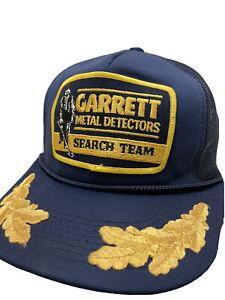 Garrett Metal Detectors Search Team Mesh Patch Snapback Truckers Cap RARE