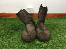 Primark Brown Faux Suede Faux Fur Lined Ankle Boots Sz UK 6