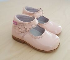 Spanish PETIT SHOES Baby Girls Pink Patent Leather Shoes__EUR 20 / UK 4 Infant