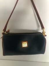 dooney and bourke women's blue leather small shoulder or handbag clean gift