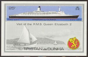 TRISTAN DA CUNHA  1979 – Visit of QE2  - ship - Minisheet - MNH