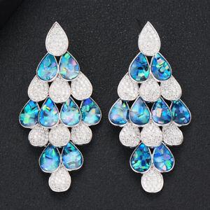 Luxury Romantic Unique Drop Pendant Earrings Shiny Noble Hot Jewelry Gift D316E