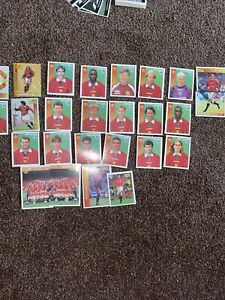 Rare Manchester United Merlin Full Set Stickers 1997 Includes Beckham