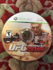 Xbox 360 UFC 2010 Undisputed Disc And Replacement Box