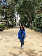 Tommy Hilfiger Women Electric Blue Wool Coat Jacket Size 6 (S)