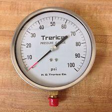 "New listing Trerice Pressure Gauge, 0-100 psi range, 1/4"" Npt"