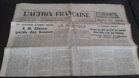 Journal Nationalist L Action Figure French 16 Mars 1934 N° 75 ABE