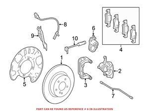 For Mercedes Genuine Parking Brake Actuator Left 1669065401