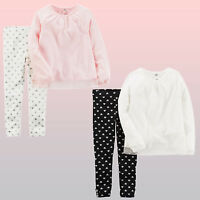 New Carter's Baby/Toddler/Preschool Girls Tulle Cotton Top & Leggings 2-Pc. Set