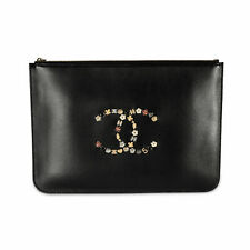 Chanel Black Lambskin Lucky Charms O Case