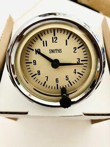 Mg Mgb  Smiths Time Clock Gauge 52 Mm  Magnolia Face
