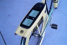 Stencils repaint 2 tone pattern on vintage 50s Sears JC Higgins bicycle rack