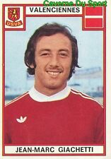 343 JEAN-MARC GIACHETTI US.VALENCIENNES VIGNETTE STICKER FOOTBALL 76 PANINI