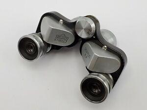 Vintage Nikon Mikron 6x Compact/Miniature Binoculars Nippon Kogaku - Chrome
