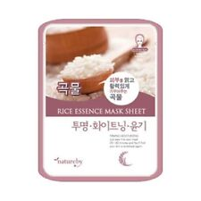 Natureby Rice Whitening Bright Skin Essence Mask Sheets 5pcs Korea Cosmetics