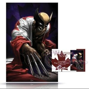 Wolverine #8/#350 Clayton Crain Canadian Flag Virgin Variant LTD 1000 PRESALE