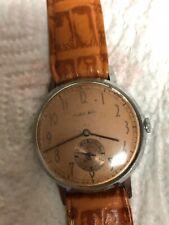 Orologio vintage Mondial Watch quadrante ramato movimento a onde di ginevra