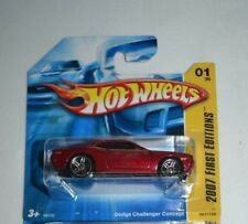 2007 HOT WHEELS FIRST EDITIONS DODGE CHALLENGER CONCEPT 1/36 ON A SHORT CARD !!
